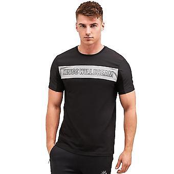 Kings kommer att drömma | Kwd Dunwen 1966 Bröstlogotyp Halvärmad T-shirt - Svart