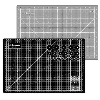 45*30Cm grey+black cutting pad a3 double-sided cutting pad 45 * 30cm non-slip medium knife pad out of grid board pvc cutting pad az22214
