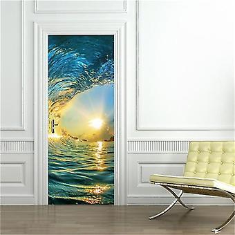 3d Modern Design Home Decor Door Sticker - Set 1