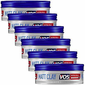 VO5 Extreme Style Extra Hold Matt Hair Clay 6Pk, 75ml