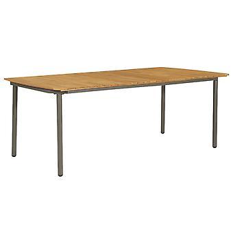 Gartentisch 200X100X72 Cm Massive Akazienholz und Stahl