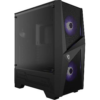 MSI MAG FORGE 100M Mid Tower Herní Počítačové pouzdro Černé, 2x 120 mm RGB PWM Ventilátor