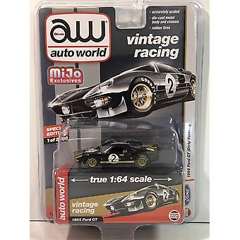 1965 Ford GT #2 Dirty Version Black 1:64 Scale Auto World CP7652