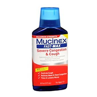 Mucinex Mucinex Fast-Max Severe Congestion Cough Liquid Maximum Strength, 6 oz