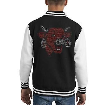 Den grinende ko La Vache Qui Rit Skitse Kid's Varsity Jacket