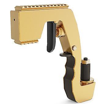 Champagne beer wine lid opener, bar party jet pistol(Gold)