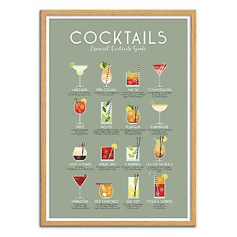 Art-Poster - Essential cocktails guide - Frog Posters