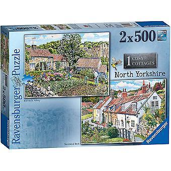 Ravensburger Cosy Cottages - Pohjois-Yorkshiren palapelit (2 x 500 kpl)