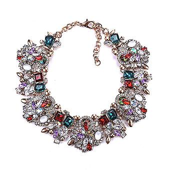 Kvinder halskæde overdrevet luksus fuld diamantlegering vedhæng til fødselsdagsgave