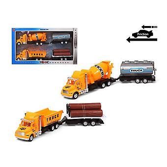مجموعة من السيارات شاحنة الأشغال العامة 119251 الأصفر (2 Uds)