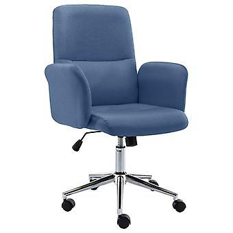vidaXL مكتب رئيس النسيج الأزرق