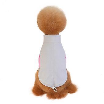 Lemmikkivaatteet fleece koiran vaatteet elastinen elastinen sian nenän painike säädettävä