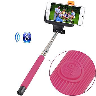 (Pink) BLU Grand X Universal Bluetooth Wireless Selfie Stick Monopod Built-in Remote Shutter Pocket Sized