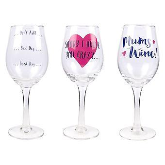 Gave til mødre-mamma ' s Wine glass beklager at jeg kjører du Crazy