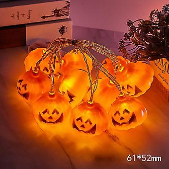 10/40led Halloween Pumpkin String Lights Led Pumpkin Holiday Lights Decor Indoor Outdoor Outside Party Yard Decorations Scary