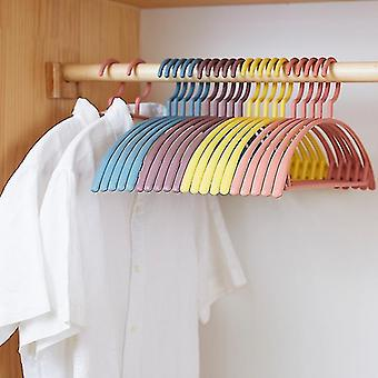 10 Pcs Percha Antideslizante Racks De Plástico Pantalla Perchas A prueba de viento Percha Antideslizante Organizador de Ropa