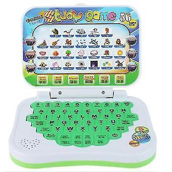 漫画子供の学習マシン、英語学習教育玩具を折りたたむ(緑)