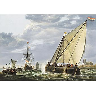 Wallpaper Art Mural Shipping on the Maas by Aelbert Cuyp
