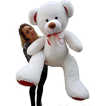 Grote witte knuffelbeer teddybeer met I Love You tekst geborduurd 160cm
