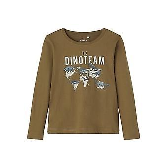 Name-it Jongens Tshirt Victor Dinoteam Stone Gray