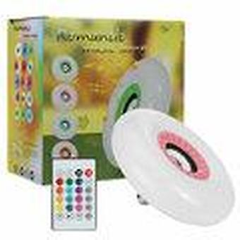 85-265V e27 smart bluetooth  led ceiling light rgb music speeker dimmable lamp + remote