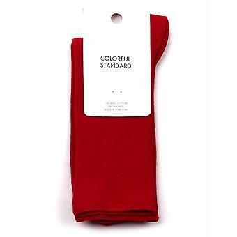 Colorful Standard Women's Classic Organic Socks - Scarlet Red