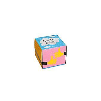 Happy Socks Pack med 4 par strumpor Good Times Strumpor Present set Multicolor
