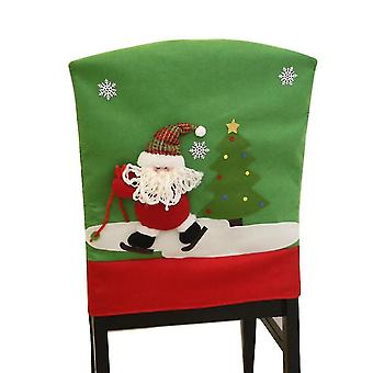 Outdoor furniture covers homemiyn brushed fabric christmas chair cover christmas pattern chair cover 50x60cm santa claus