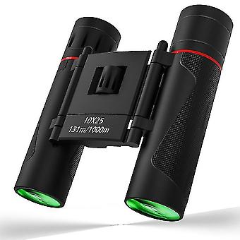 Binoculars mini binoculars 10x25 hd compact binoculars for children adults  outdoor foldable telescope for bird