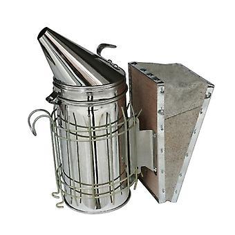 كبير خلية النحل المدخن الفولاذ المقاوم للصدأ W / الحرارة درع معدات تربية النحل الجلود