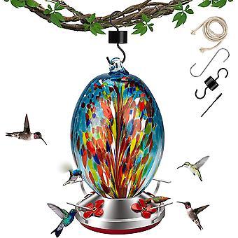 Hummingbird Glass Feeders For Outdoors 32oz