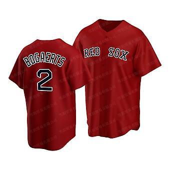 Miesten Baseball Jersey #2 Bogaerts 11 Devers #34 Ortiz Red Sox Pelaaja Jersey 90-luvun hip hop peli fanit urheilu baseball-univormut koko S-xxxl