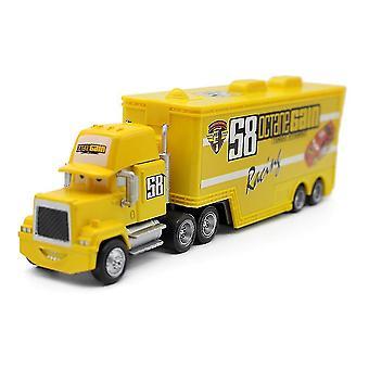 Autók No. 58 Container Truck Trailer Ötvözet Gyermek játékautó modell