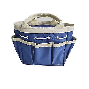 Förvaringsväska för trädgårdsredskap, trädgårdsverktygshållare tygväska tung för verktygsset, kit, trädgårdsredskapsväska för inomhus och utomhus, organiserlight blå