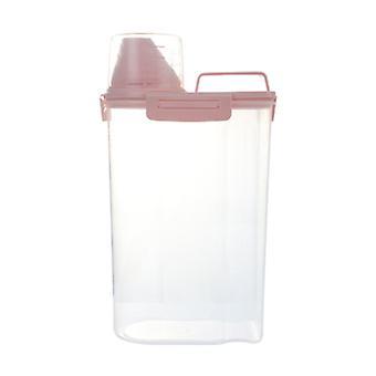 Контейнер для хранения кормов для домашних животных с пряжками для тюленей для собак Кошки Птицы 1,5 л Емкость