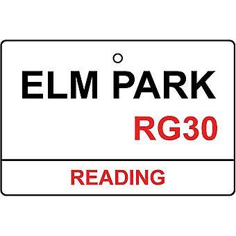 Lesen / Elm Park Street Sign Auto-Lufterfrischer