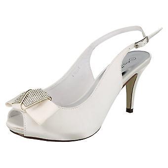 Scarpe donna Anne Michelle Peep Toe Diamante Bow Corte F10254