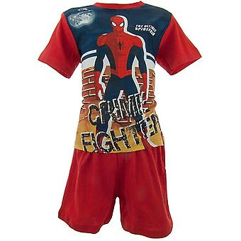 Boys Marvel Spiderman Shortie Pijamale OE2004