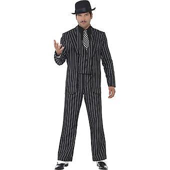 Klasyczny gangster kostium szefa z kurtka krawat kamizelki z makiety koszulę i spodnie
