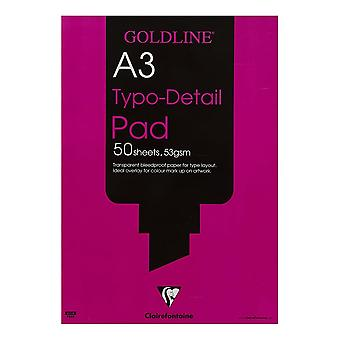 Clairefontaine Typo-Detail Pad 53gsm   Sized Listed