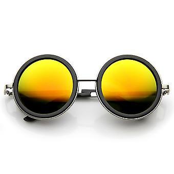 Unisex Premium ronde Flash spiegel Studio Cover zonnebril