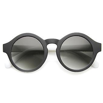 Mellomstore Retro mote fet Rim P3 Flash speil nøkkelhullet runde solbriller