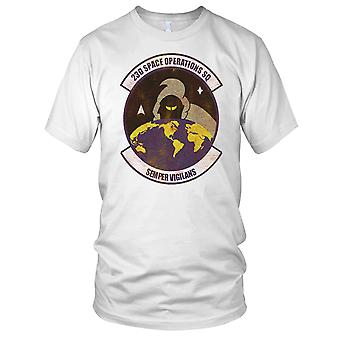 USAF 23 Space Operations Grunge effekt damer T Shirt