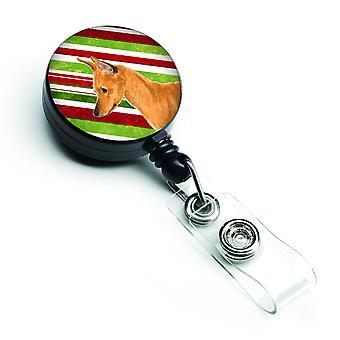 Min Pin Candy Cane ferie jul løftbare Badge hjuls