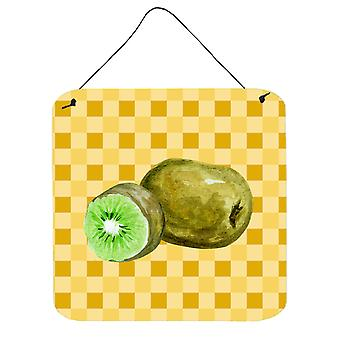 Carolines Treasures  BB7231DS66 Kiwi on Basketweave Wall or Door Hanging Prints