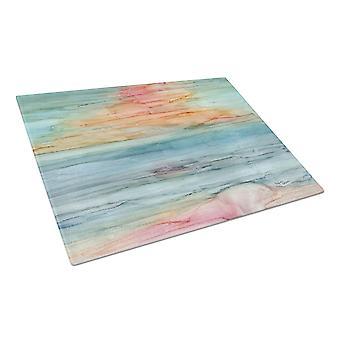 Carolines aarteita 8979LCB abstrakti Rainbow lasinen leikkuulauta suuri