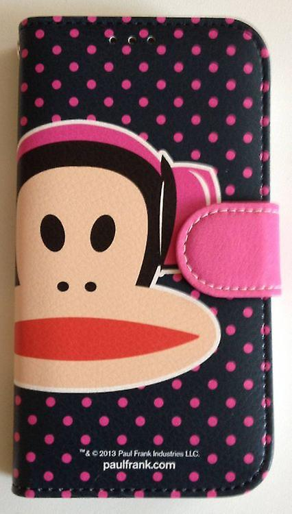 Original Paul Frank® Diary Case Cover leatherette Samsung Galaxy S4 / LTE with Design Headphone pink / black