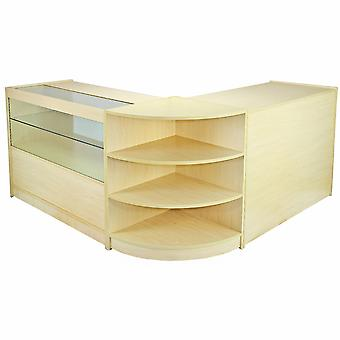 Shop Counters Retail Storage Display Cabinets Glass Showcase Maple Shelves Nova