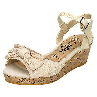 Girls Cutie Small Wedge Open Toe Sandals