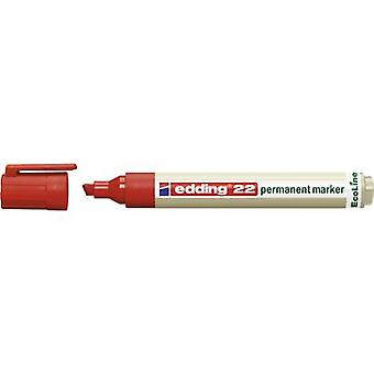 Edding edding 22 permanent marker EcoLine 4-22002 Permanent marker Red waterproof: Yes